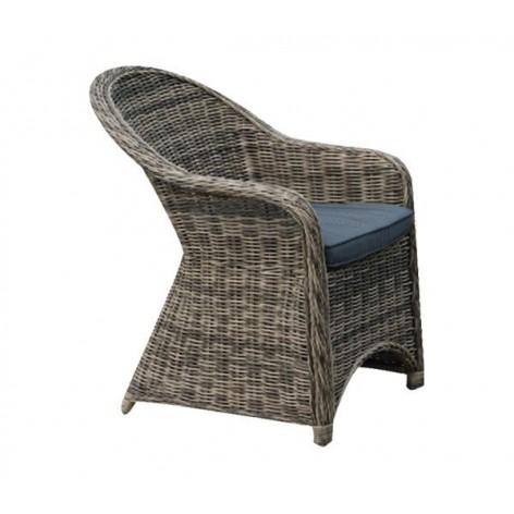 Πολυθρόνα πλεκτή γκρι-καφέ