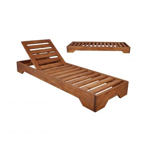 Ξαπλώστρα ξύλινη καρυδί