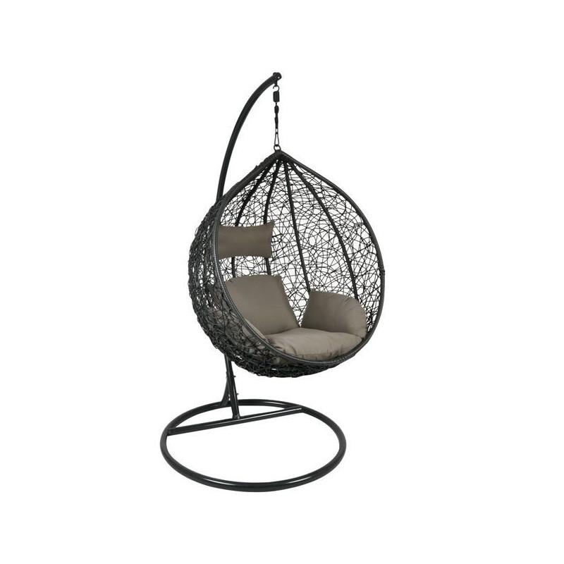 Κρεμαστή πολυθρόνα μέταλλο/wicker