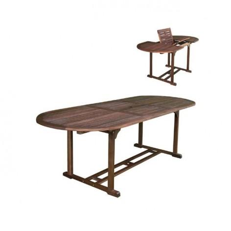 Τραπέζι Κήπου Ξύλινο Επεκτεινόμενο